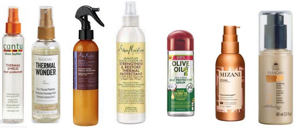 Protecteur thermique cheveux crépus, frisés, afros